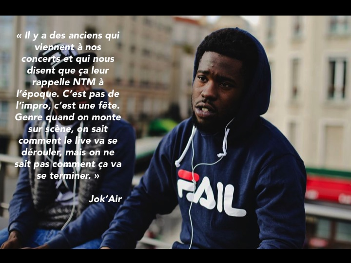Jok'Air membre MZ Rap Paris 13
