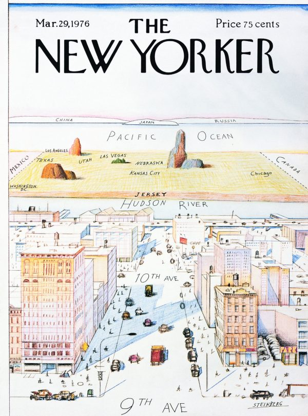 new yorker cover Saul Steinberg