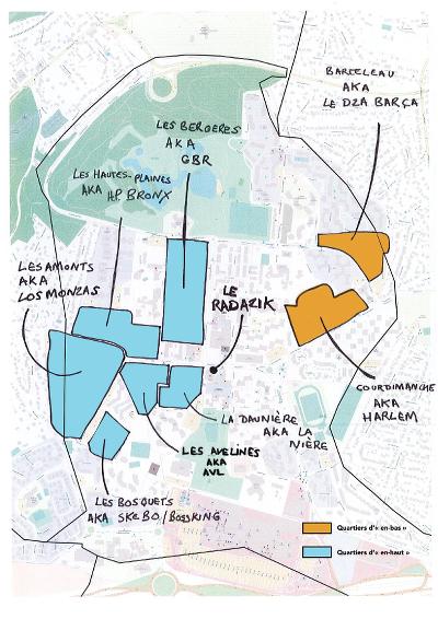 Carte Ulis quartiers los monzas