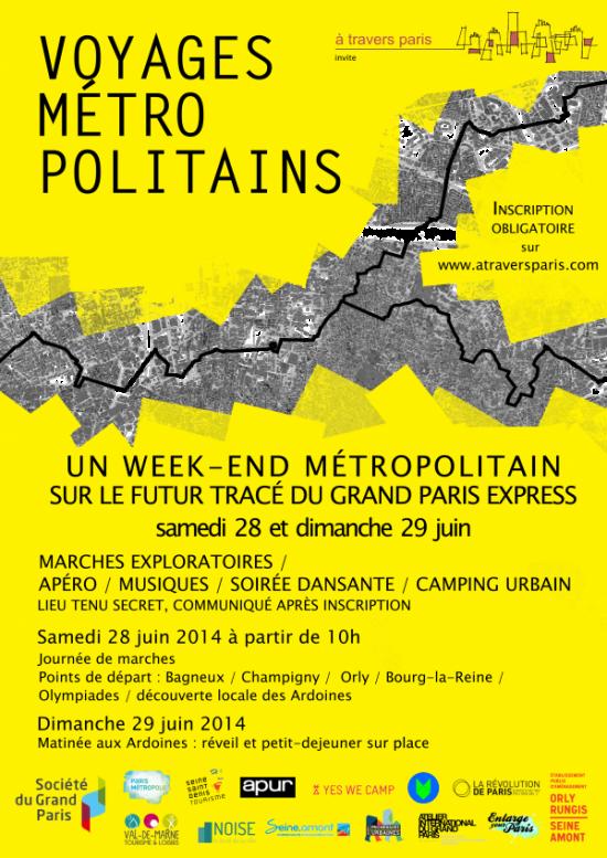 flyer voyages m+®tropolitains soirée Noise marche camping fête Dj set