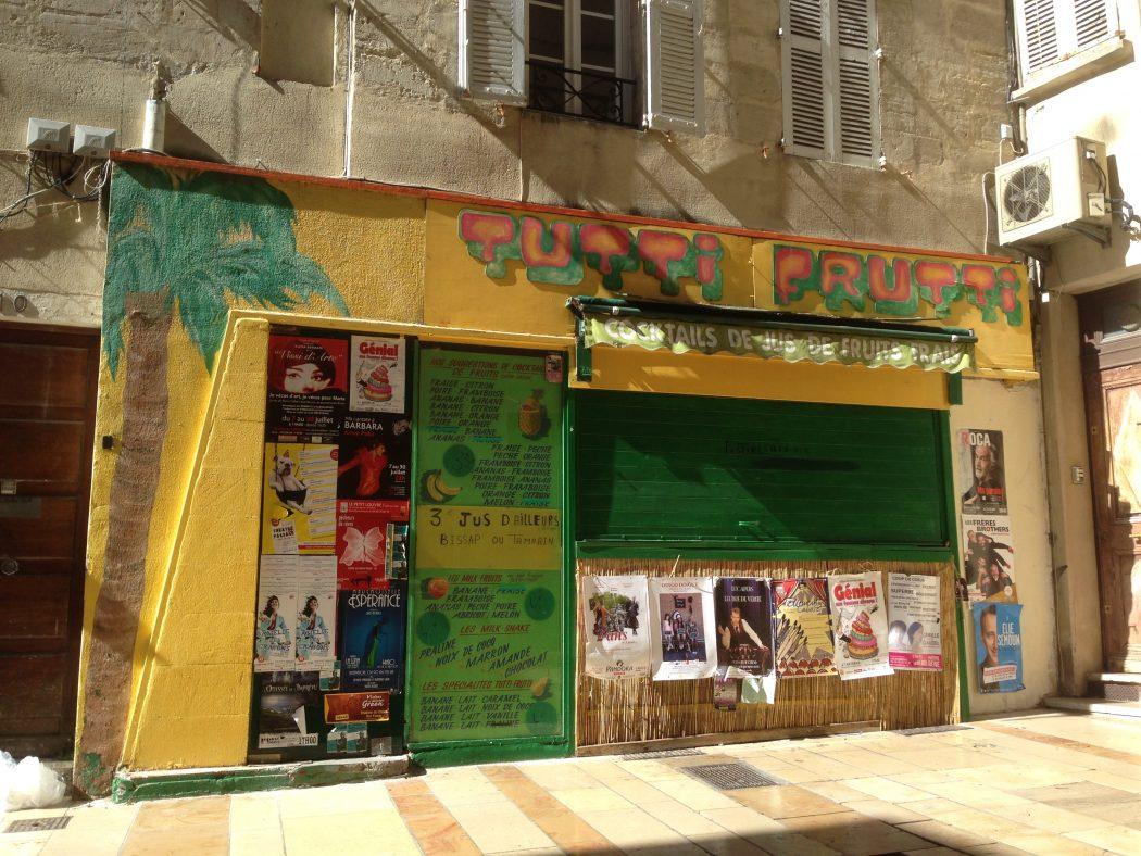 Le Tutti Frutti d'Avignon garde quelques traces