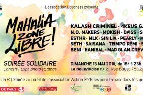 Dimanche 13 mai  | Mahalia Zone Libre ! Concert hip-hop solidaire (Kalash Criminel, 4Keus Gang…)