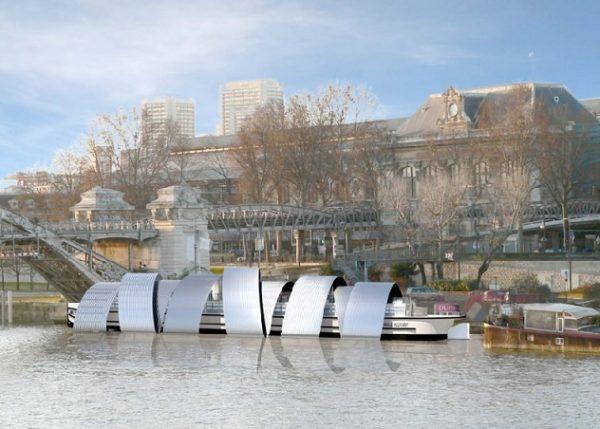 Le Corbusier Péniche Louise-Catherine Port d'Austerlitz projet musée Architecture