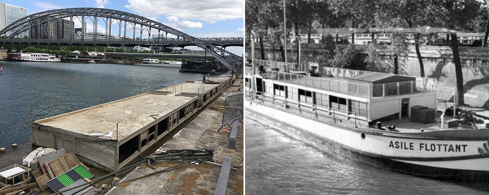 Le Corbusier Péniche Louise-Catherine Port d'Austerlitz Architecture Armée du Salut Paris