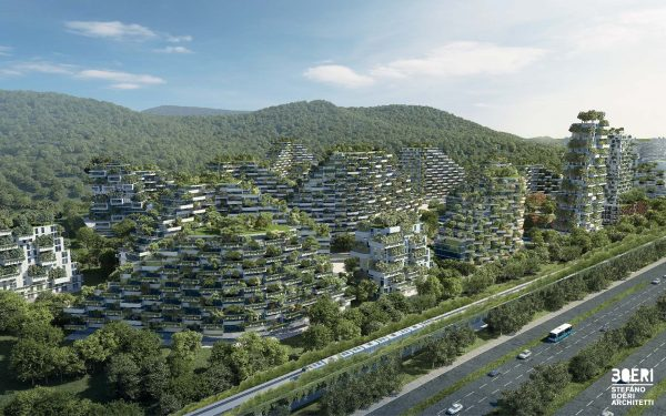 Écologie urbaine ville forestière Chine