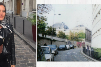 Ville en Polaroid Paris